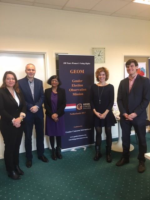 GEOM Chief Coordinator, Sabra Bano, and Liaison Coordinator, Benjamin Tidå, met with the delegation from the OSCE Election Assessment Mission.